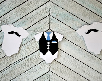 The Ultimate Mustache And Tie Little Man  Banner
