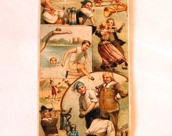 Germany Arbuckle's Coffee Pastimes Series Victorian Trade Card