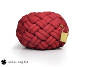 40% off - mini KNOTTY floor cushion 50x50x30 cm (deep red)