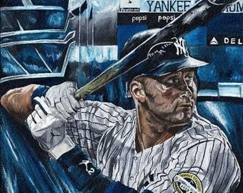 Derek Jeter New York Yankees Glicee Prints