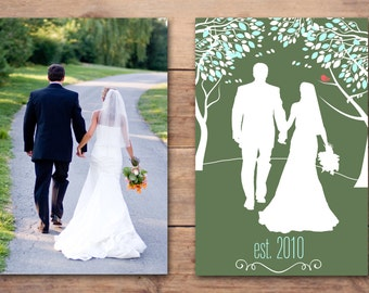 8x10 or 11x14 Custom Silhouette you choose colors and font