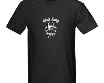 Black Death 777 - Crossbone Vodka S-5XL Distillery Brewery Moonshine alcohol cool shirt skull bones summer adult party college barware