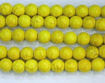 12mm Round Yellow Magnesite Beads Genuine Natural  6358 15''L 38cm Loose Beads Semiprecious Gemstone Bead   Supply