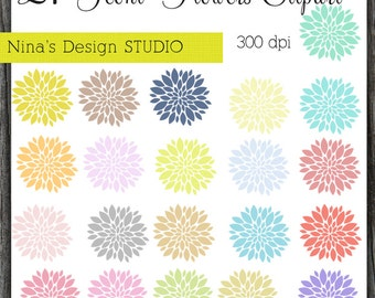 INSTANT DOWLOAD   21 Peoni Flower Clipart for Personal and Commercial Use