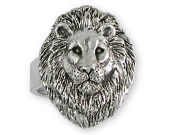 Solid Sterling Silver Lion Ring - LION3R