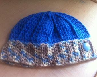 Beautiful women's hat blue (ready to ship)