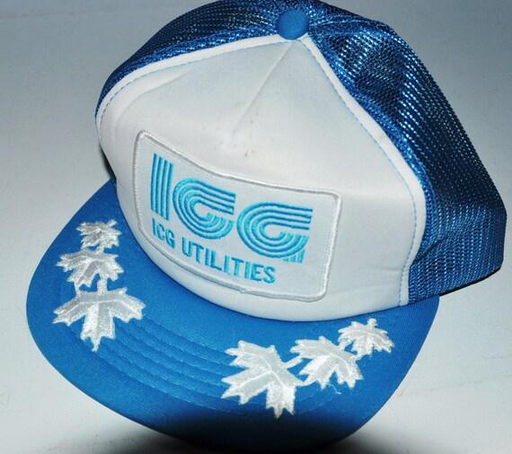 Grateful Dead Trucker Hat: Vintage ICG Utilities Ontario Canada Snapback Trucker Hat