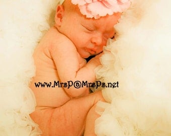 Pink flower clip pink flower bow Pink Peony Flower Clip fluffy and soft