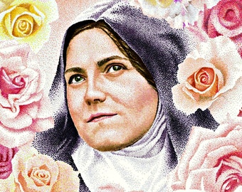 St. Theresa the little flower art print