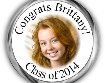 Photo Graduation Hershey Kisses Stickers - Personalized Graduation Sticker