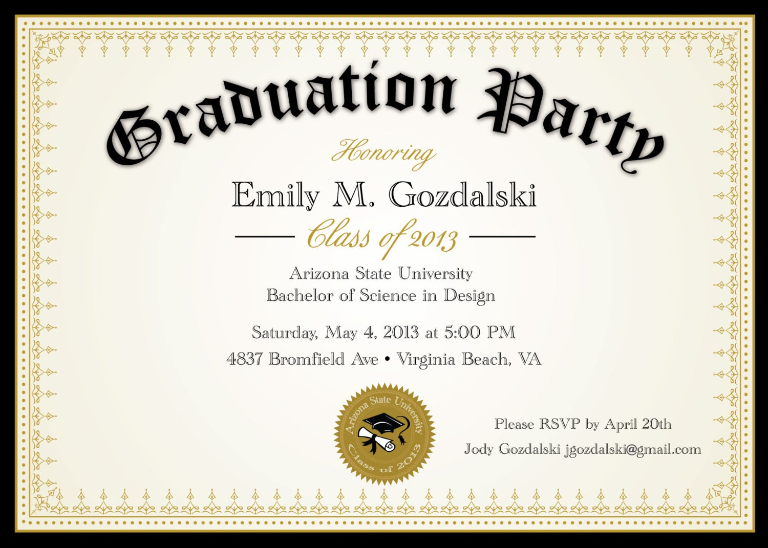 diploma graduation party invitations grad announcement, Party invitations