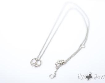 Peace Pendant Necklace in Silver