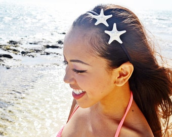 Double Starfish Elastic Headband - Mermaid Accessories, Bridal Accessories, Wedding Hair , Beach Hair Wedding, Destination Beach Wedding