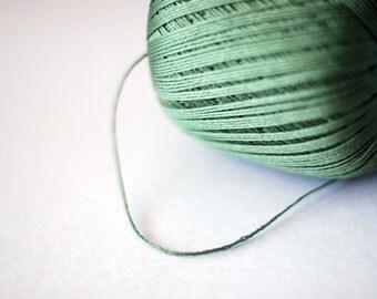 100% Cotton yarn - mercerized cotton yarn - olive green - 100gr