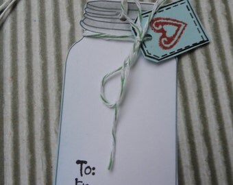 Mason Jar Gift Tag, Food Gift Tag, Tag for Homemade Goodies, To and From tag, Food in a Jar