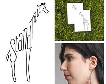 Giraffe - temporary tattoo (Set of 2)