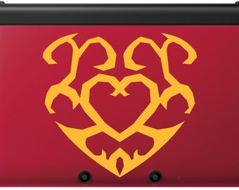 Zelda Heart Container for Red 3DS & 3DSXL