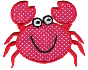 Crab Iron-On Applique Patch Kids / Baby