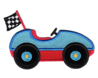 Race Car Iron-On Applique Patch - Kids / Baby