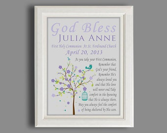 Christening Gift -Baptism Gift -Baby Boy Or Girl Personalized Print,  Print