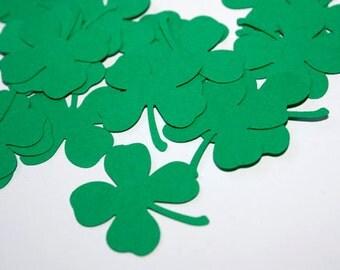 Shamrock Confetti, St Patricks Day Party Decorations, Four Leaf Clove Party Decor, Green Leaf Cut Outs, Saint Patricks Day Irish Party