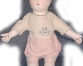 Pattern for Reproduction of Antique Lithograph Doll - 24""