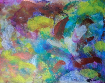 "Abstract Art Print of Original Acrylic Painting Size 10.5""X15"""