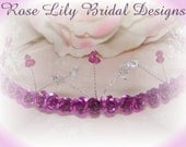 Maddy -  crystal and metal flower tiara