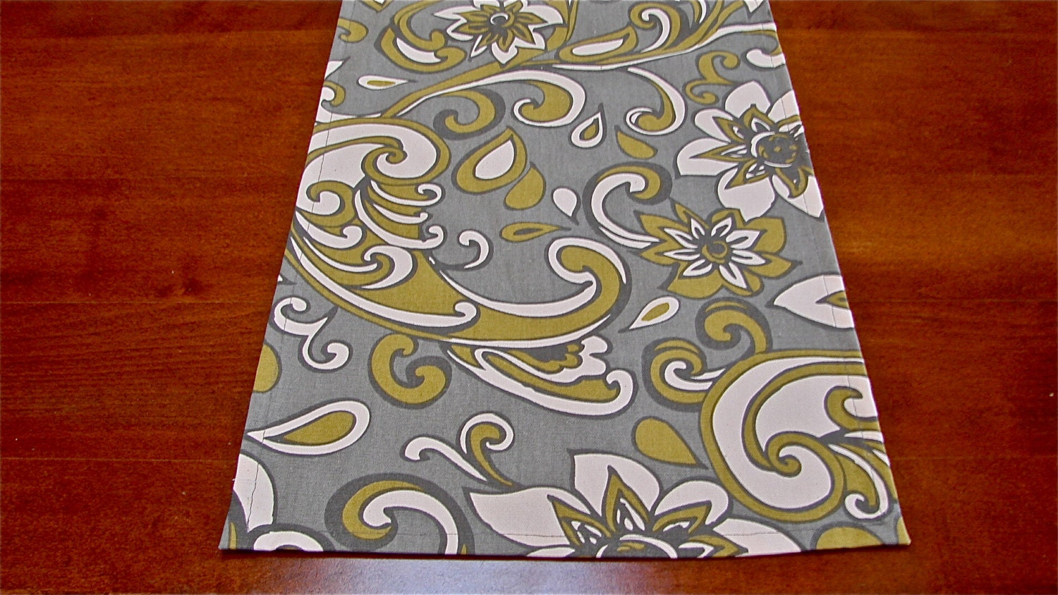12x73 table runner table runner gray green and white table