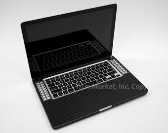 Sale! Keyboard Track Pad Macbook Pro 15 Retina A1398 New Style Black Carbon Fiber Protector Skin Decal 2pcs