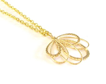 Gold Bridesmaid Necklace Gold Necklace Gold Charm Pendant Gold Bridal Jewelry Simple Bridesmaid Necklace Gold Wedding Jewelry Rustic Wedding