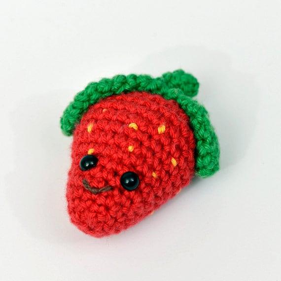 Amigurumi Strawberry Doll Pattern : Crochet Strawberry toy amigurumi doll FREE SHIPPING by MsToosh