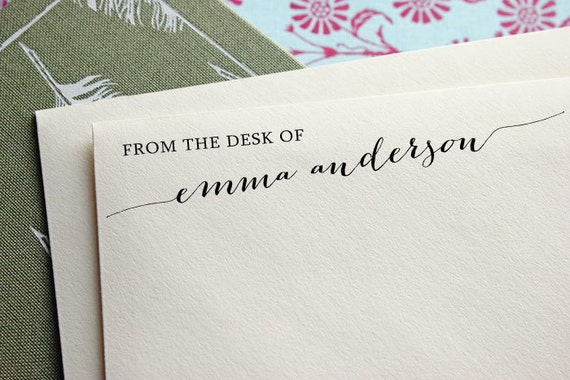 From The Desk Of Custom Stamp Stationery Stamp