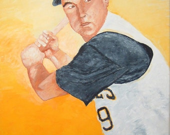 Bill Mazeroski Hall of Fame Second Baseman Pittsburg Pirates Reproduction Painting 8x10