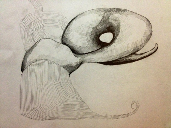 Abstract Sea Monster Pencil Drawing 10 out of by ...