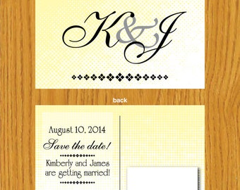Items similar to digital chloe save the date template on etsy for Electronic save the date templates