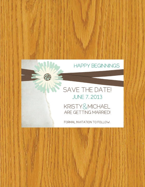 electronic save the date templates - digital printable save the date template