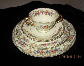Rosenthal China Dishes Ivory Floranada Pattern #73627