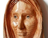 Hand Carved Wood Sculpture Wood Carving of Inuit Woman    on Etsy         Carved in American Chestnut Wood