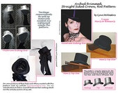 MC20 - Men's and Women's Top Hat, Victorian Riding Hat, Men's Top or Stovepipe Hat Sewing Pattern by Lynn McMasters