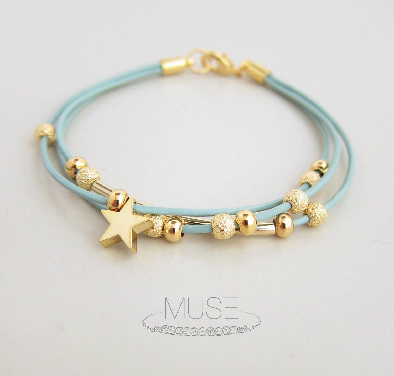 Leather Bracelet With Charms: 301 Moved Permanently