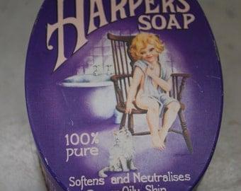 Vintage Tin Harpers Tin Box