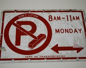 """Metal Sign  """"Don't Litter""""  Sign"""