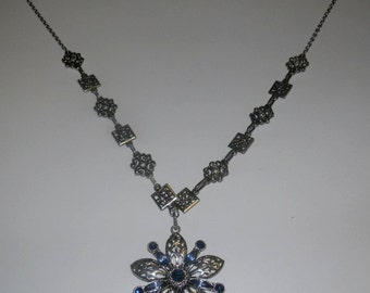 Iced Snow Flower Necklace