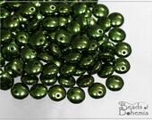 Metallic Fern Czech Lentil Beads 6 mm, 50 pcs (7467)