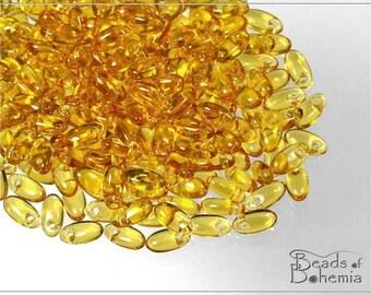 10 g Light Topaz Czech RIZO Beads 6x2,5 mm (7203)