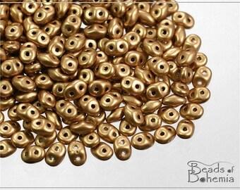 20 g Silky Metallic Sand Czech Superduo Beads 2,5x5 mm (7814)