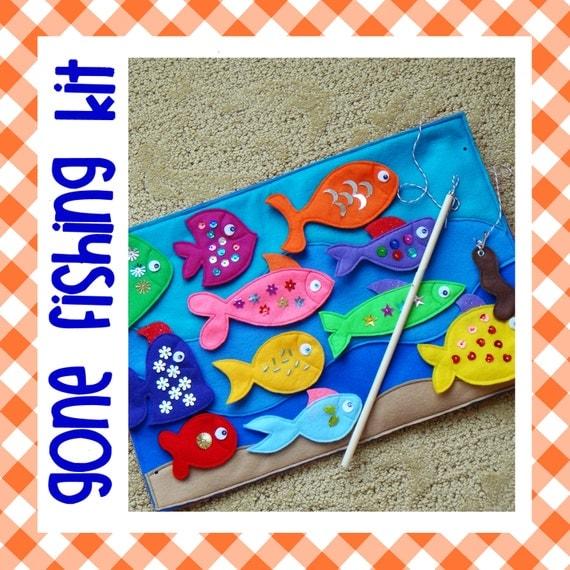 Kit for gone fishing magnetic felt game for Gone fishing game
