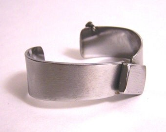 Stainless Steel Bracelet Cuff Made from Recycled Metal