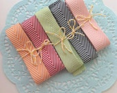 Chevron Twill ribbon 18mm x 1 meter , gift wrap, supplies, packaging